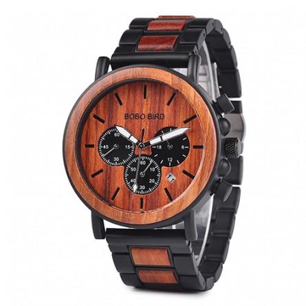 Мужские деревянные часы BOBO BIRD модель W-P09-3